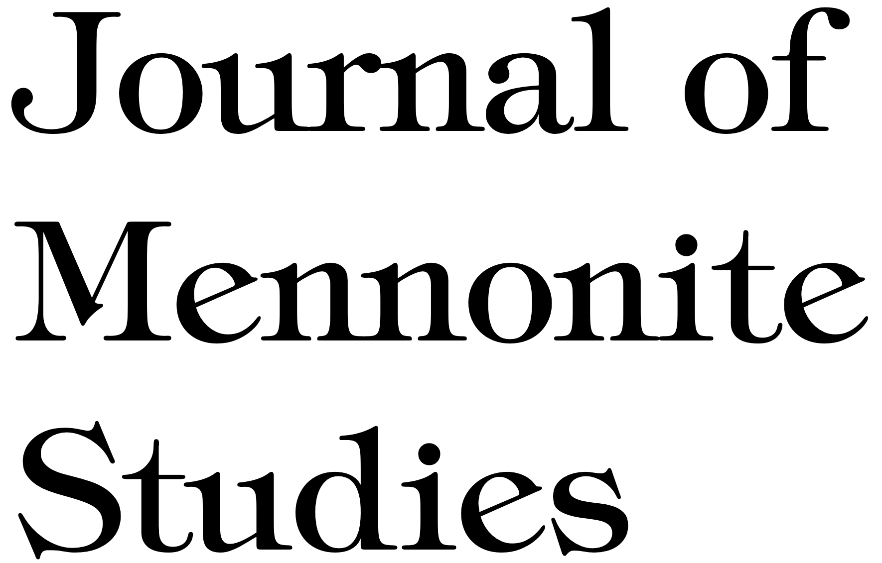 Journal of Mennonite Studies